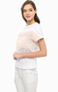 Хлопковая футболка с отделкой перьями Marciano Guess
