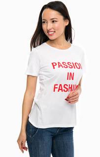 Белая футболка с узлом на спине Guess