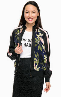Куртка бомбер с цветочным принтом Guess