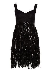 Платье с бахромой из пайеток Dolce & Gabbana