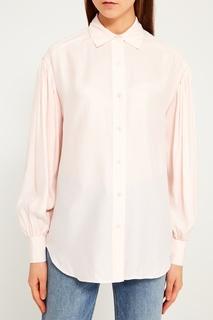 Розовая блузка из шелка Frame Denim