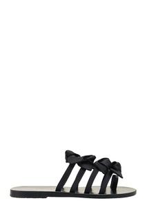 Черные сандалии с бантами Ancient Greek Sandals