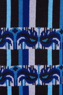 Синий хлопковый кардиган в полоску 7КА