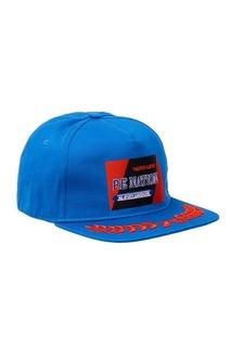 Голубая бейсболка с вышивкой P.E Nation