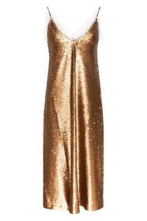 Золотистое платье с пайетками ЛИ ЛУ