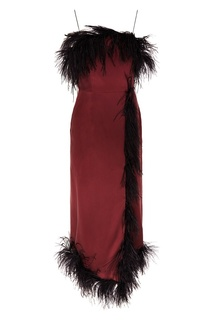 Платье из шелка с перьями ЛИ ЛУ
