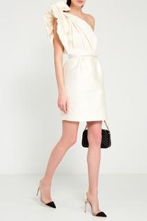 Белое асимметричное платье из хлопка Stella Mc Cartney