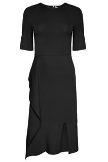 Черное платье с асимметричным подолом Stella Mc Cartney