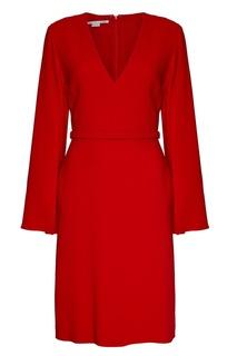 Красное платье с V-вырезом Stella Mc Cartney