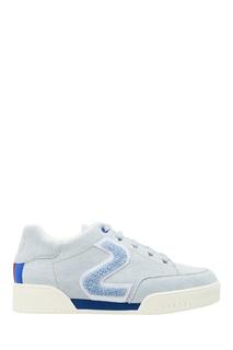 Голубые кроссовки из денима Stella Mc Cartney