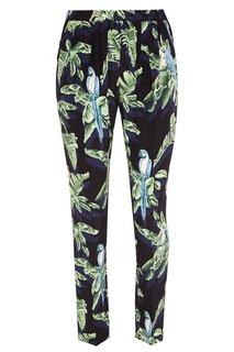 Шелковые брюки с тропическим принтом Stella Mc Cartney