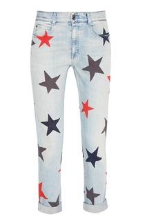 Голубые джинсы со звездами Stella Mc Cartney