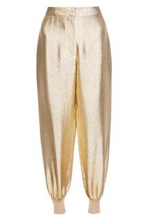 Золотистые брюки-джоггеры Stella Mc Cartney