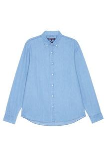 Голубая рубашка из денима Michael Kors Collection