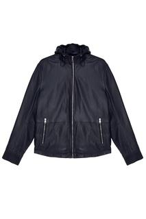 Синяя кожаная куртка Michael Kors Collection