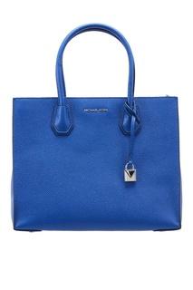Синяя кожаная сумка-тоут Michael Michael Kors