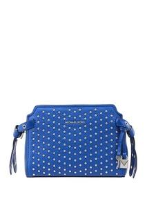 Синяя сумка с заклепками Michael Michael Kors