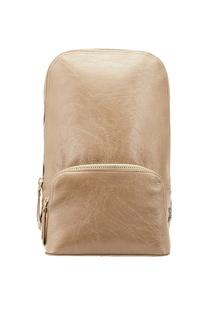 Бежевый кожаный рюкзак Lorena Antoniazzi