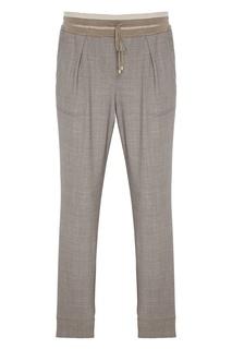 Серые брюки из шерсти Lorena Antoniazzi