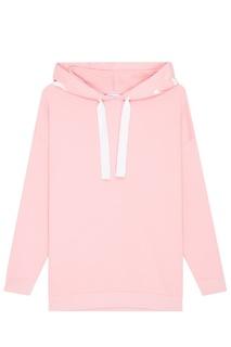 Розовое худи с логотипом на капюшоне Blank.Moscow