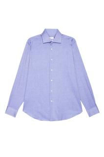 Голубая сорочка из хлопка Brioni