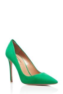 Зеленые туфли из замши Simply Irresistible Pump 105 Aquazzura
