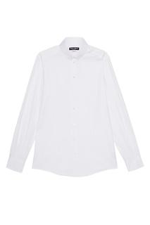 Белая сорочка из фактурного хлопка Dolce & Gabbana