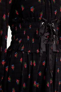 Черное платье с принтом Mo&Co