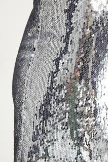 Короткая юбка с пайетками Mo&Co