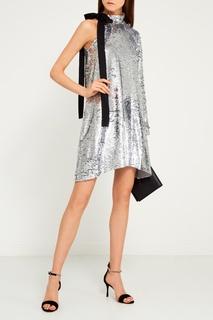 Асимметричное платье с пайетками Mo&Co