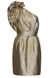 Золотистое асимметричное платье Stella Mc Cartney