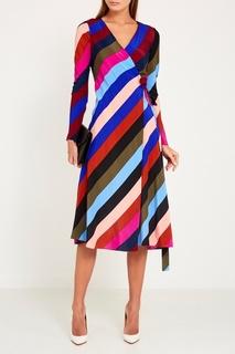 Шелковое платье в полоску Diane von Furstenberg