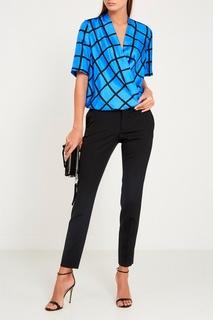Синяя блузка из шелка Diane von Furstenberg