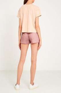 Розовые шорты с карманами Sport Angel