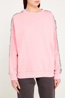 Розовое худи с контрастными полосками Blank.Moscow