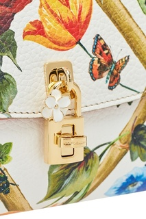 Кожаная сумка с цветами Dolce & Gabbana