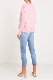 Голубые джинсы с заломами Re/Done