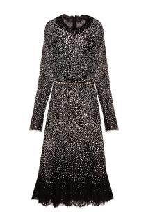 Черное платье с кристаллами Dolce & Gabbana