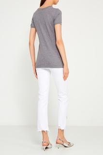 Меланжевая футболка с монограммой Dolce & Gabbana