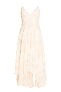 Открытое платье из хлопка и шелка Zimmermann