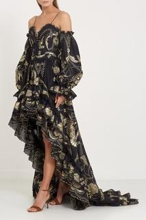 Платье с золотистыми узорами Dundas