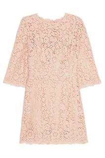 Розовое кружевное платье Dolce & Gabbana