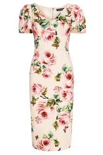 Платье с розами Dolce & Gabbana