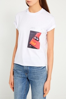 Хлопковая футболка с принтом Forte Couture