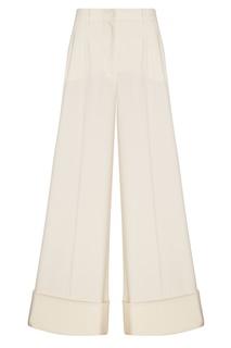 Белые шерстяные брюки Dolce & Gabbana