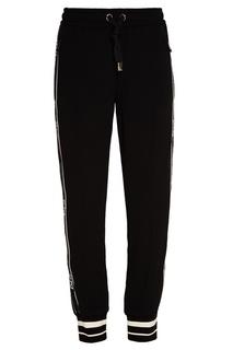 Черные брюки-джоггеры с лампасами Dolce & Gabbana