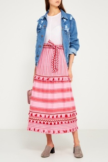 Хлопковая юбка с кисточками Gael Dodo Bar Or