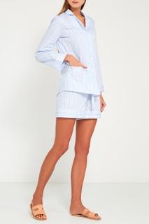 Голубая пижама с шортами Primrose
