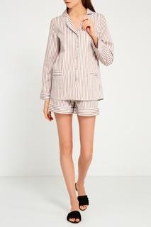 Бежевая пижама с шортами Primrose