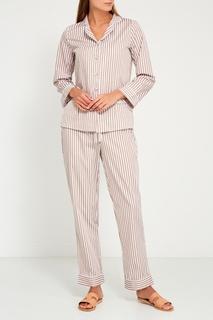 Бежевая пижама с брюками Primrose